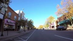 Drive through Main Street of historia Stock Footage