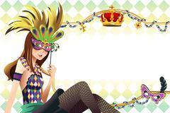 Mardi gras background - stock illustration