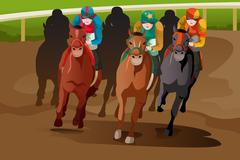 Stock Illustration of Horse racing