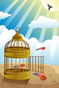 Let it go or freedom concept - stock illustration