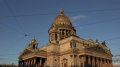 Saint Isaac's Cathedral (in 4k), St Petersburg, Russia. Stock Footage
