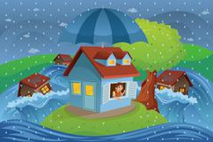 House insurance concept - stock illustration
