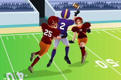 Stock Illustration of Football players in a match