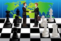 Business merger concept Stock Illustration