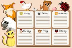 School timetable design Piirros