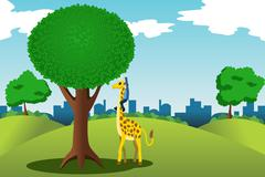 Man reaching for money on a tree Stock Illustration