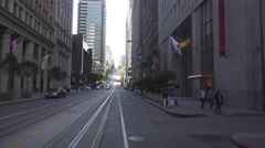 Passenger POV San Francisco Cable Car  	 Stock Footage