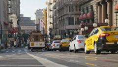 Cable Car on Powell Street in San Francisco Stock Footage