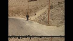 Vintage 16mm film, 1970, Israel, drive plate arid rural #2 Stock Footage