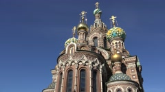 The Church of the Savior on Spilled Blood (in 4k), St Petersburg, Russia. - stock footage