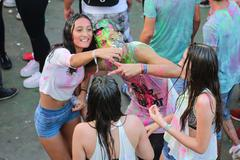 Stock Photo of ISTANBUL, TURKEY - AUGUST 01, 2015: People have fun in Life in Color the Big Ban