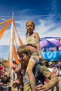 Cosmos Village, Almaty Province, Kazakhstan - 16 August 2015: The festival of - stock photo