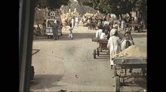 Vintage 16mm film, 1970, Israel, drive plate town and rural Stock Footage