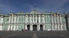 The Hermitage Museum (in 4k), Palace Square, St Petersburg, Russia. Stock Footage