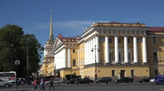 The Admiralty Building, St Petersburg, Russia. Stock Footage