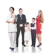 Stock Photo of Family at the doctor appointment
