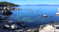 A beautiful establishing shot of Lake Tahoe. Stock Footage