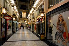 Strand Arcade on Queen Street Auckland New Zealand Stock Photos