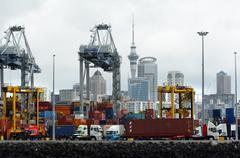 Ports of Auckland - New Zealand Stock Photos