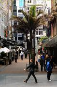 Traffic on Vulcan Lane in Auckland downtown, New Zealand . - stock photo