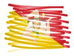 Stock Illustration of Flag illustration - Sicily