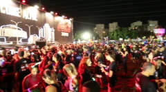 Stock Video Footage of Tel-Aviv OCTOBER 20 2015 Crowd of runners at city night run