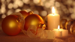 Still Life of Christmas Ornaments. Seamless Loop Stock Footage