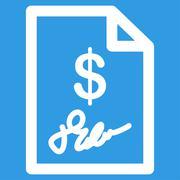 Signed Invoice Icon Stock Illustration