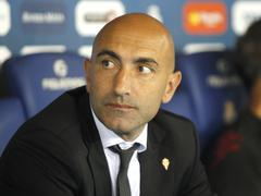 Abelardo Fernández manager of Sporting Gijon Stock Photos