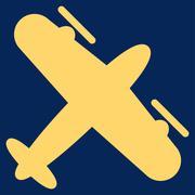 Screw Aeroplane Icon - stock illustration