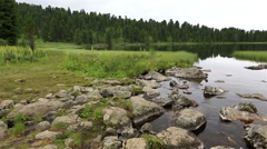 Beautiful panorama sixth Karakol lakes Stock Footage