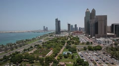 Aerial shot of Abu Dhabi Park, UAE. Stock Footage