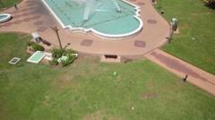 Aerial shot of Abu Dhabi Park, UAE. Arkistovideo