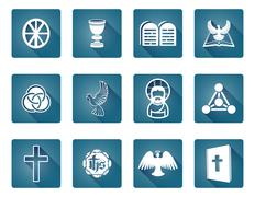 Christian Icon Symbols - stock illustration