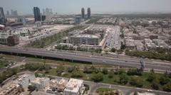 Aerial shot of Abu Dhabi villas, UAE. Arkistovideo
