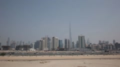Aerial shot of Dubai Business Bay, UAE. Stock Footage