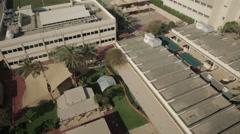 Aerial shot of school playground in Dubai, UAE. Stock Footage
