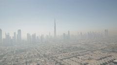 Aerial shot of skyline in Dubai, UAE. Stock Footage