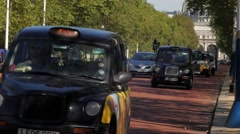 London Black Cabs - stock footage