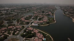 Aerial shot of Jumeirah Islands , UAE. Stock Footage