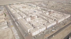 Aerial shot of Workers Village in Mussafah, UAE. Arkistovideo