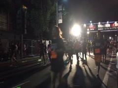 Tel-Aviv Night run timelapse loop Stock Footage