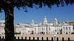 Cars pass in front of Horse Guards Parade Stock Footage
