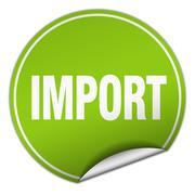 import round green sticker isolated on white - stock illustration