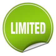 limited round green sticker isolated on white - stock illustration