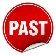 Stock Illustration of past round red sticker isolated on white