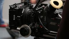 Camera moves during the shooting of the film. Film production Stock Footage