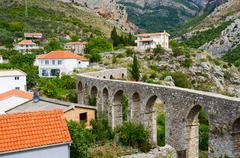 Ancient Aqueduct in Old Bar, Montenegro Stock Photos