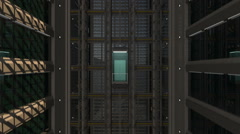 An open Elevator shaft at the business center Stock Footage