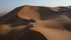 Aerial shot of Dune Driving, UAE. - stock footage